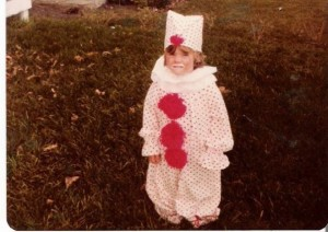 Here, I'm 4 . . . in a costume my mom made, my favorite ever.