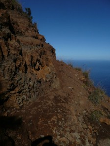 Cliff Trail in Hawaii