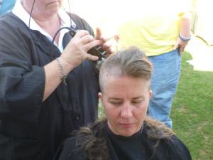 Last year, I shaved my head for the American Cancer Society.