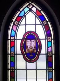One of the beautiful stained glass windows from my childhood church, the place I learned to value story.