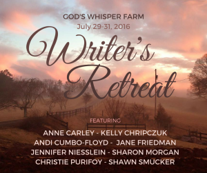 Writer's Retreat at God's Whisper Farm