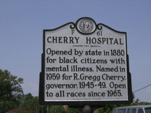 Cherry Hospital, once the NC Insane Asylum for the Colored