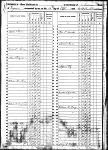 1850 Slave Schedule - Waller T. Yowell and William G. Berry