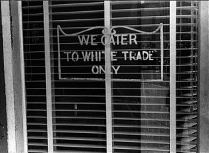White only sign on restaurant Aug 1938