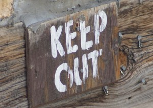 Gardens, Damage, and Keep Out Signs