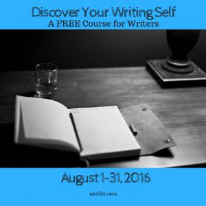 Discover Your Writing Self - A FREE Course