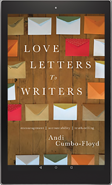 Love Letters to Writers cover on a Kindle device